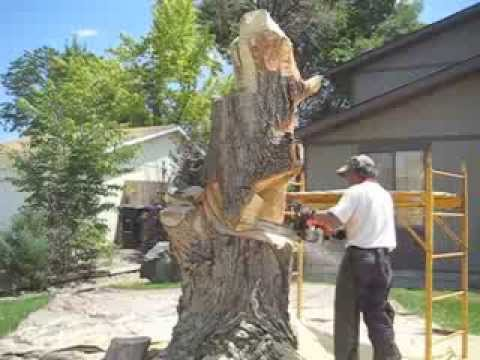 Tree Stump Converted Into An Impressive Sculpture