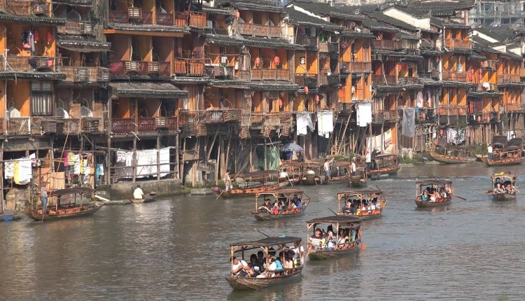 The Ancient Fenghuang Town Of China