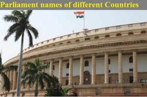 Parliament Names of Different Countries