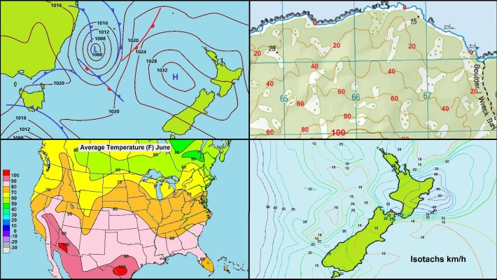Contour Lines ( Isolines ) and Imaginary line in the map