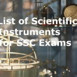 Scientific Instruments and their Usage