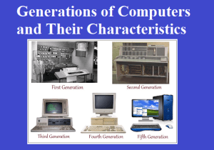 Generations of Computers and Their Characteristics