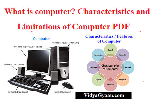 What is Computer and its Characteristics and Limitations PDF Download