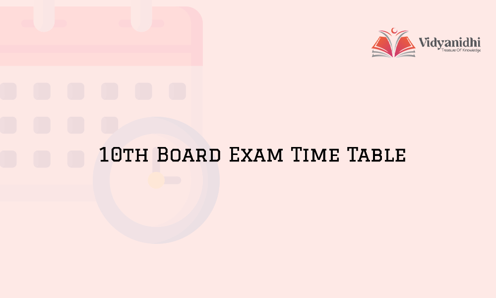 10th Board Timetable in 2021 - 10th Class Exam Date Sheet 2021