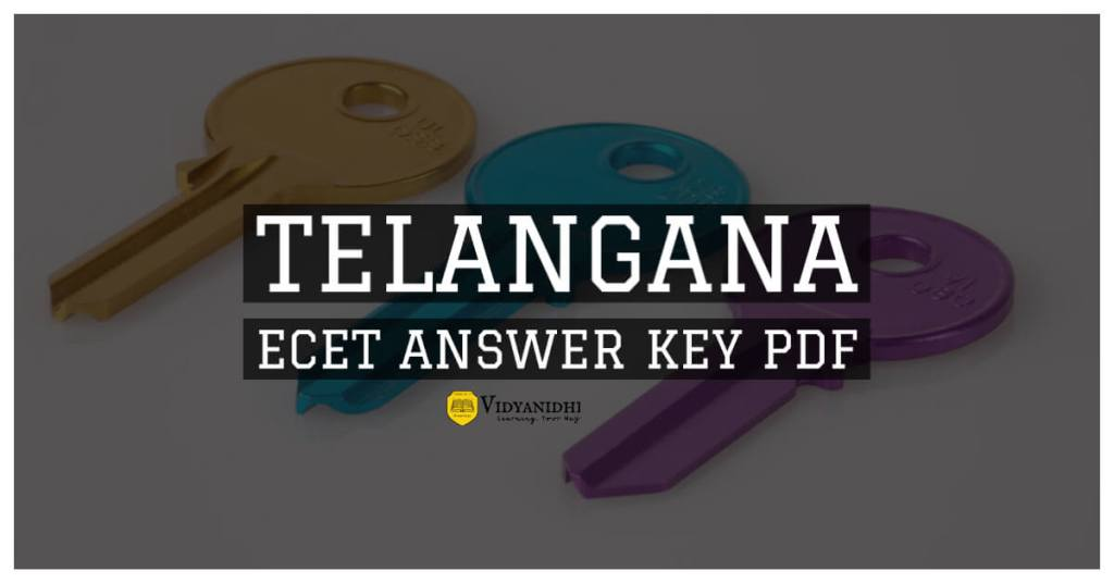 TS ECET Answer Key 2020 pdf Download official
