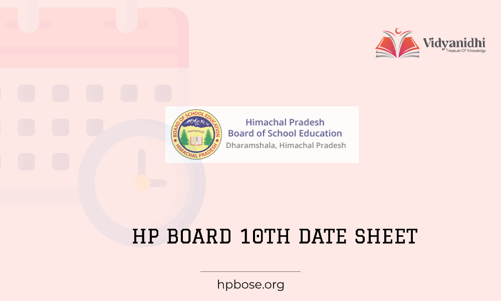 HPBOSE 10th exam date sheet 2021
