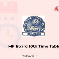 MP Board 10th Exam Time table 2021