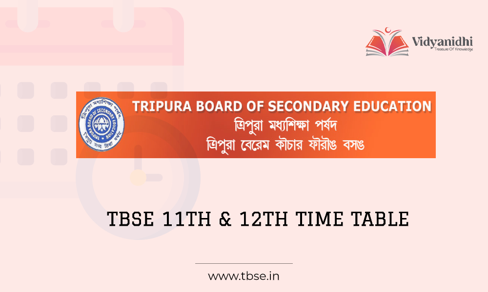 TBSE 11th and 12th time table - exam date sheet 2021