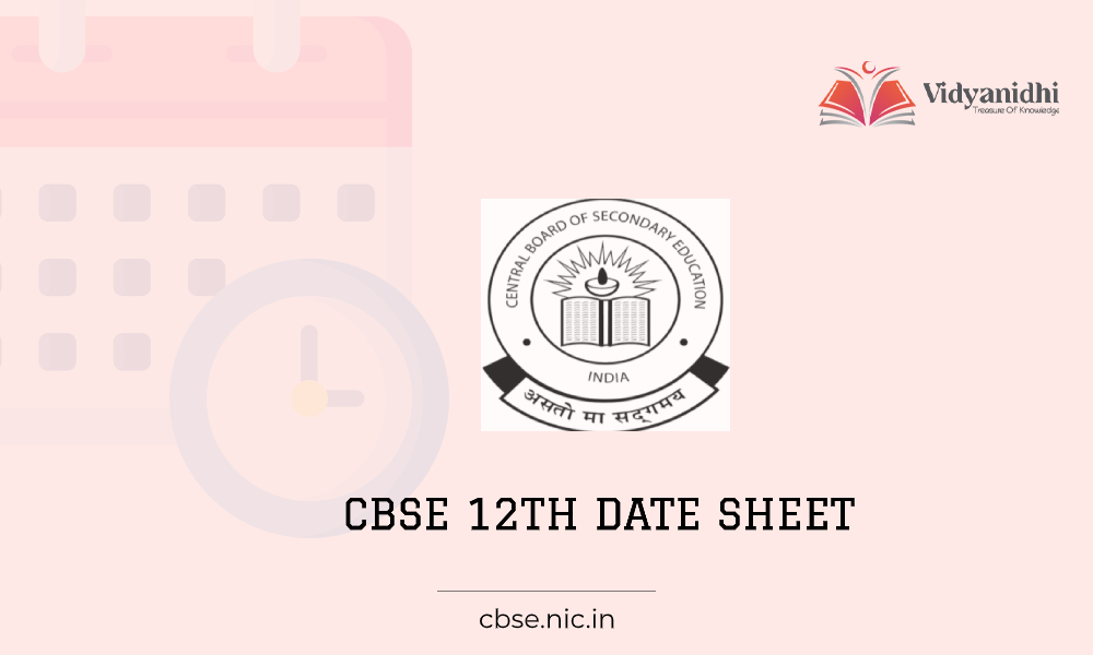 CBSE 12th date sheet -exam date 2021