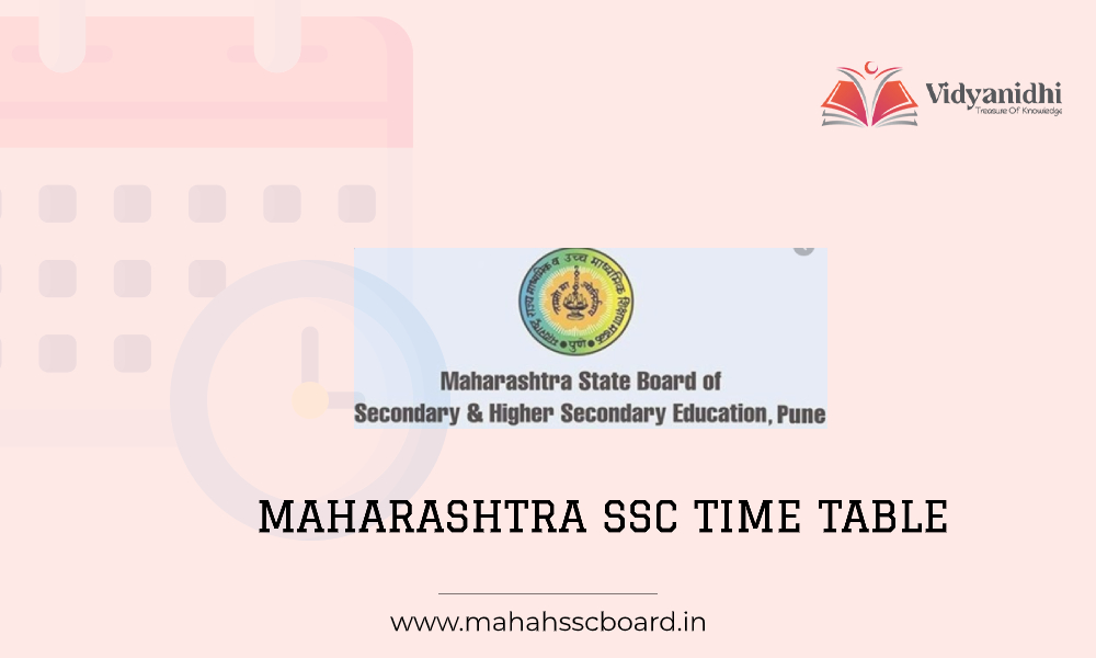 Maharashtra SSC Time Table - exam date sheet (www.mahahsscboard.in)