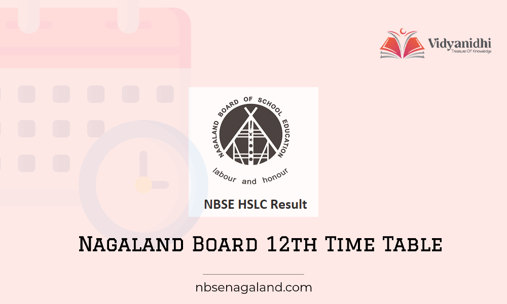 NBSE 12th Class Time Table