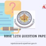 Rajasthan Board 12th model question paper 2021