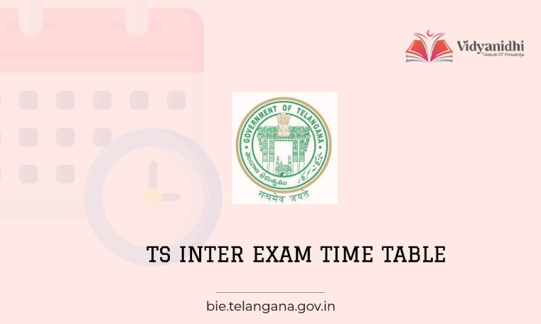 TS Intermedite exam time table 2022 1st year and 2nd year