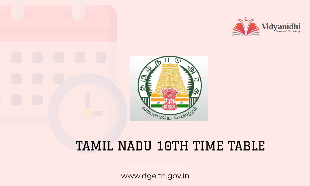 TN SSLC Time Table 2021