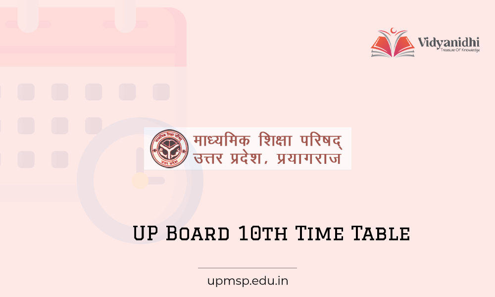 UP 10th Time Table