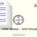 CHSE - Odisha 12th syllabus 2021