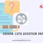 Odisha Board 12th model question paper 2021