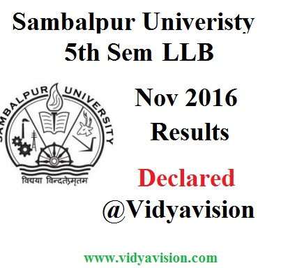 Sambalpur University 5th Sem LLB Results