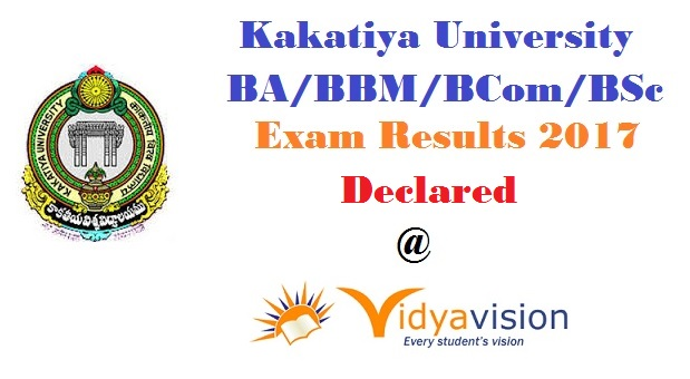Kakatiya University UG Degree Results 2017 - Declared