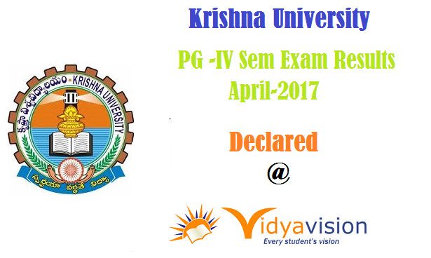KRU PG -IV Sem Exam Results April-2017