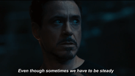 Quitting is never an option things to learn from tony stark