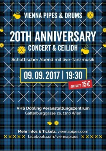 20th Anniversary Concert Flyer