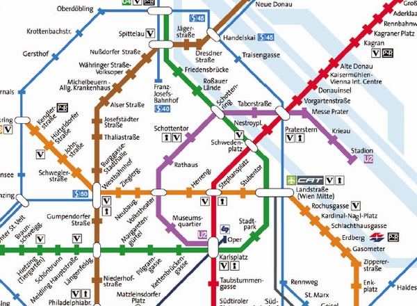 Public Transportation Map Vienna