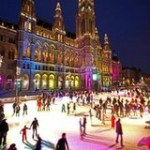 Ice skating for two more days in front of Vienna City Hall