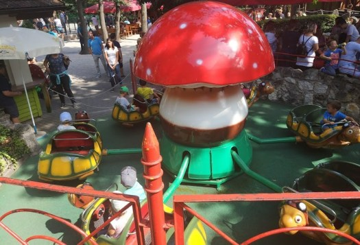 Lots of delightful rides for kids in the Familypark