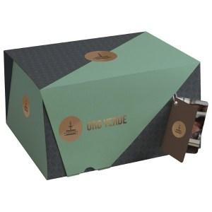 oro verde scatola con crema di pistacchio da spalmare ricoperto di glassa bianca e pistacchio da 100 d111 1