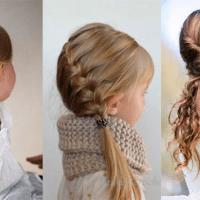 petite fille 30 coiffures attachees