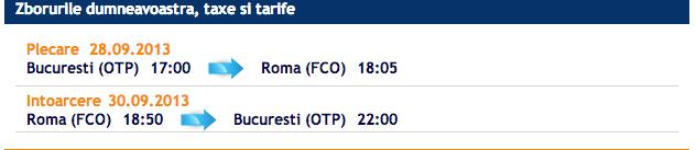 Bilete ieftine avion Bucuresti Roma