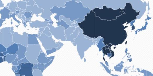 Biểu đồ ung thư gan thế giới.