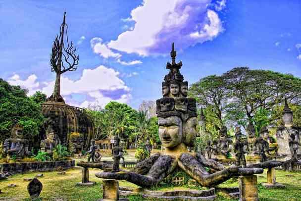 Buddha Park in Laos.