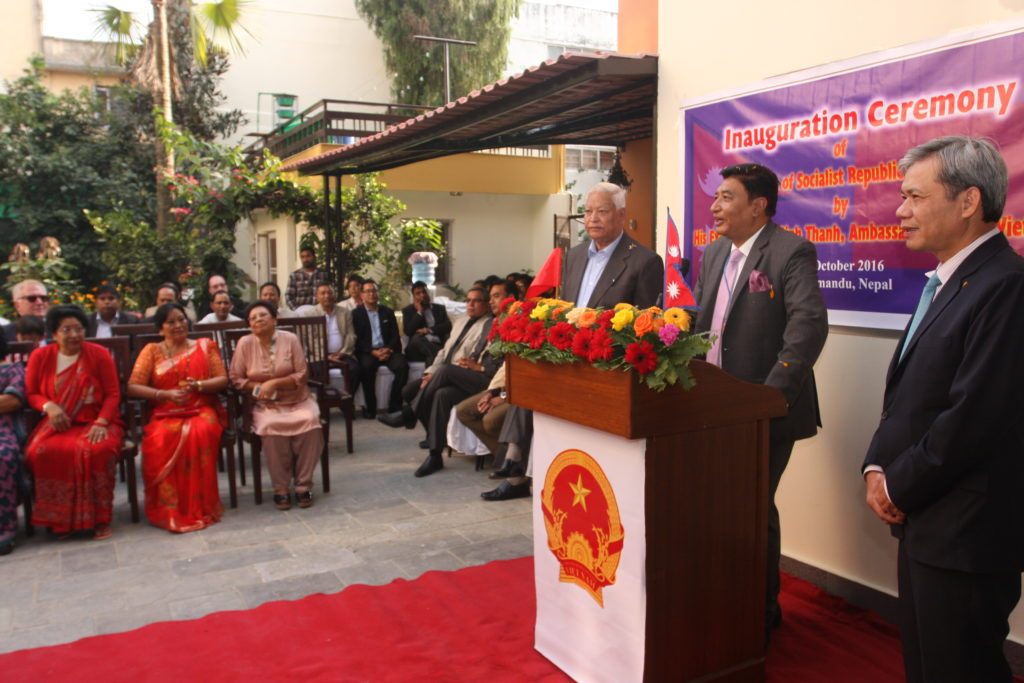 Inauguration Ceremony of Vietnam Consulate in Nepal, October 2016