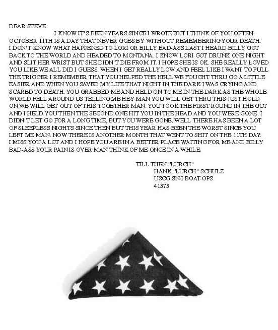 Powerful letter left at The Wall