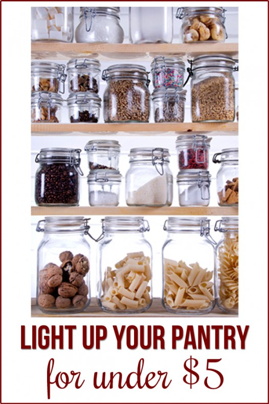 how to light a small closet or pantry