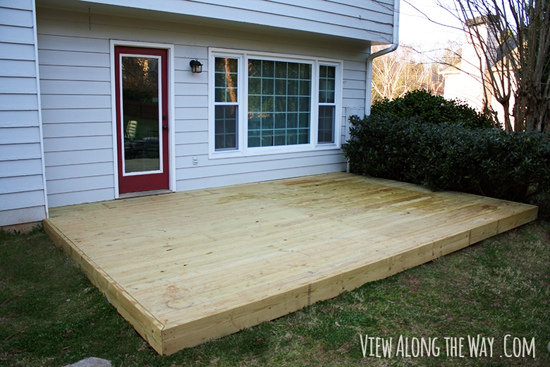 Deck And Cover View Along The Way | Wood Stairs Over Concrete | Stair Stringers | Composite Decking | Cement | Front Porch | Stoop
