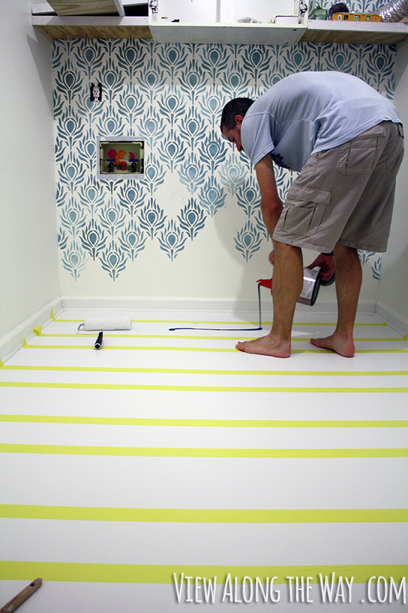 paint vinyl or linoleum sheet flooring