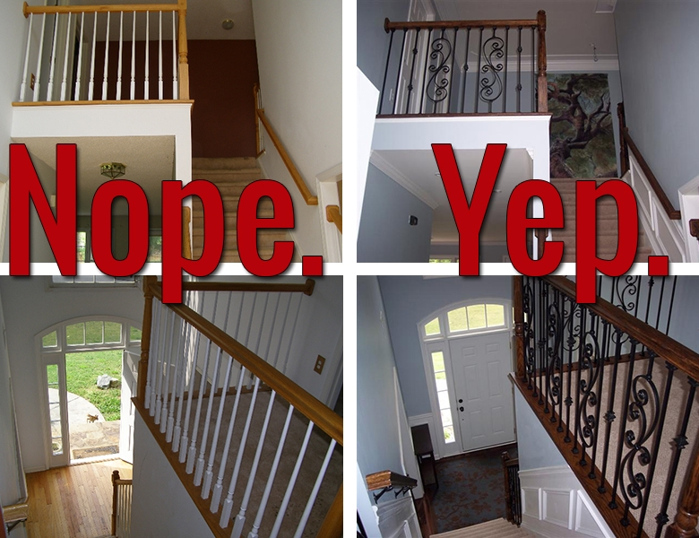 How To Install Iron Balusters View Along The Way | Wood And Metal Banister | Modern | Rustic | Stainless Steel | Design | Aluminum