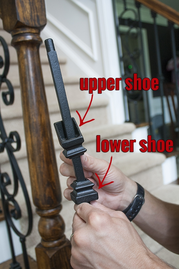 How To Install Iron Balusters View Along The Way | Shoe Rail For Iron Balusters | Modern | Oak | Slides | Cast Iron | Remodel