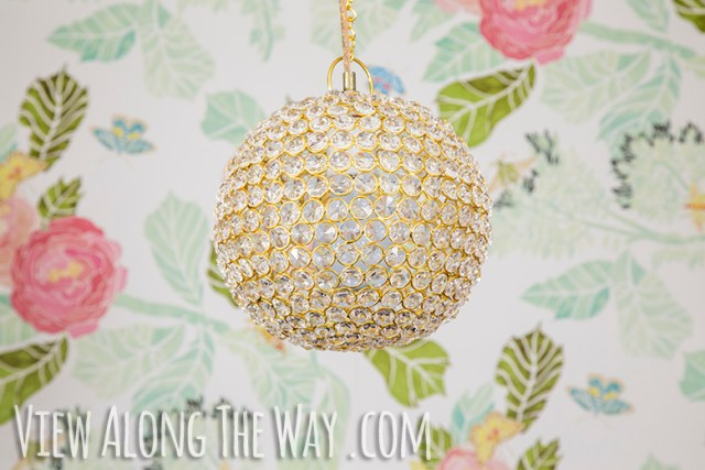 DIY crystall ball chandelier