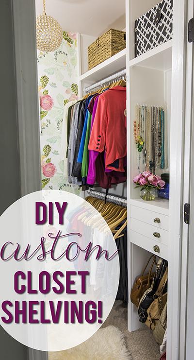 Build Your Own Custom Closet Shelving