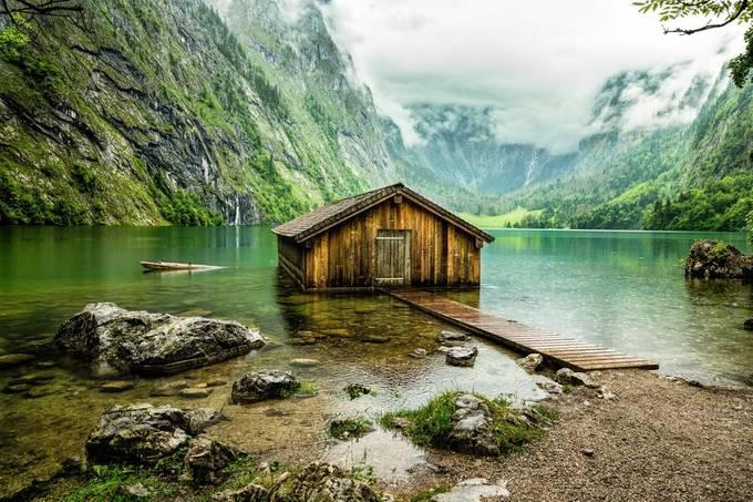 Boathouse on Obersee door Archangel72 - Unieke locaties fotocompetitie