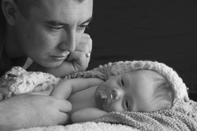 Father in Awe of his Newborn son by TK64 - Love Photo Contest 2019