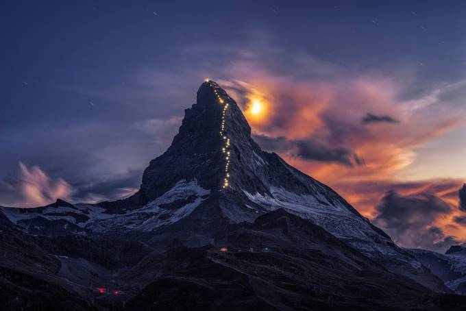 Matterhorn star trail by tiger_in_teapot - The Wonders of the World Photo Contest