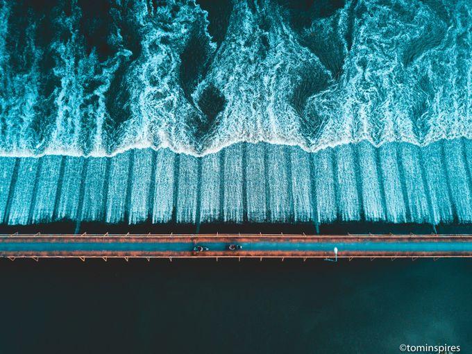 River Crossing Thailand - Bridge - Aerial by tominspires - Unieke locaties fotocompetitie