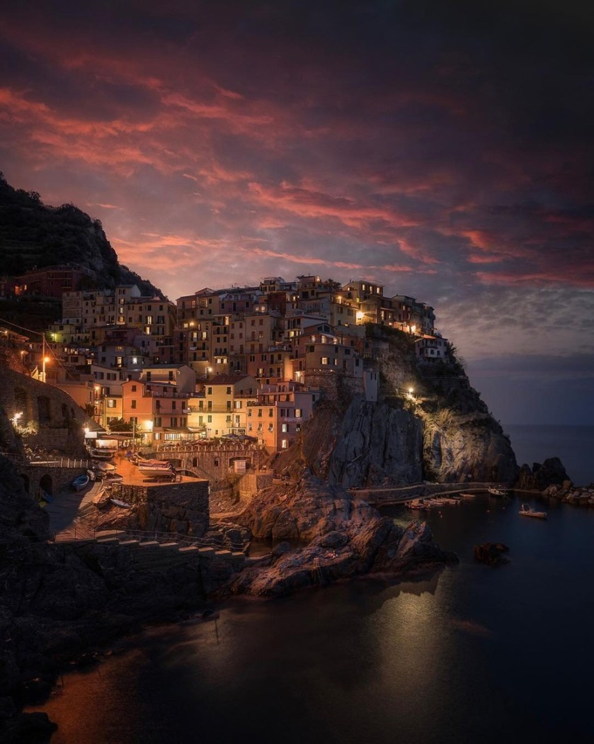 An epic morning in Manarola, Italy by mindz.eye - The Wonders of the World Photo Contest
