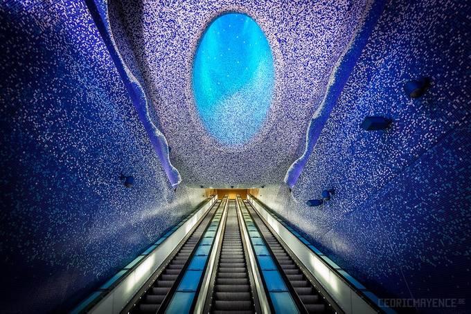 Toledo (Stazione della Metropolitana dell'Arte) - Naples by CedricMayence - The Blue Color Photo Contest 2018