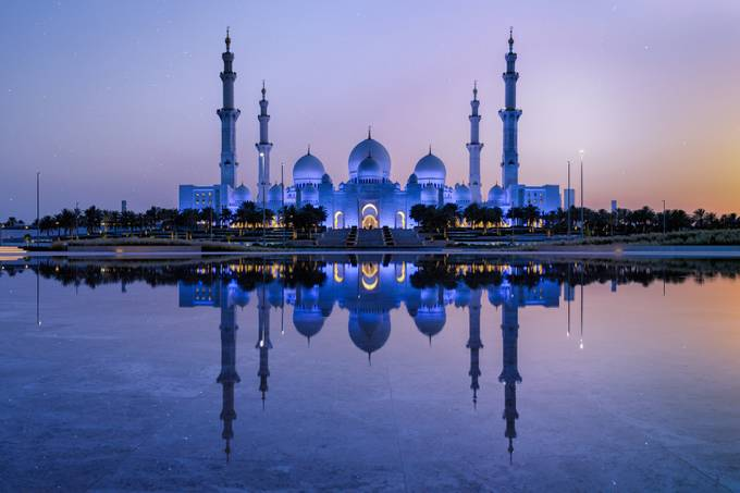 Grand Mosque At Sunset by sventaubert - The Blue Color Photo Contest 2018